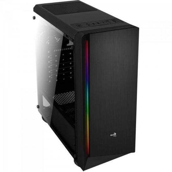Gabinete Gamer MID Tower RGB RIFT Preto Acrilico Aerocool