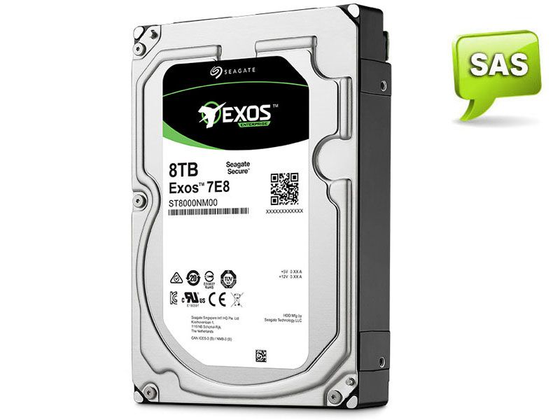 HD 3,5 Enterprise Servidor 24X7 Seagate 1RM112-004 ST8000NM0075 8 Teras 7200RPM 256MB Cache SAS 12GB/S