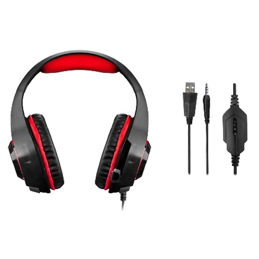 Headset Warrior Rama Gamer USB P2 LED PH219