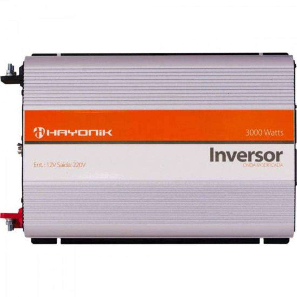 Inversor de ONDA Modificada 12VDCOM220V USB 3000W Hayonik