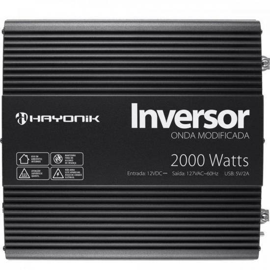 Inversor de ONDA Modificada 2000W 12VDCOM127V PW11-4 Hayonik