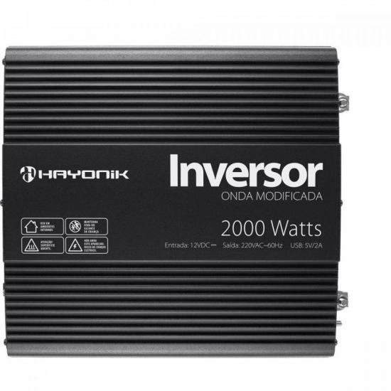 Inversor de ONDA Modificada 2000W 12VDCOM220V PW11-5 Hayonik
