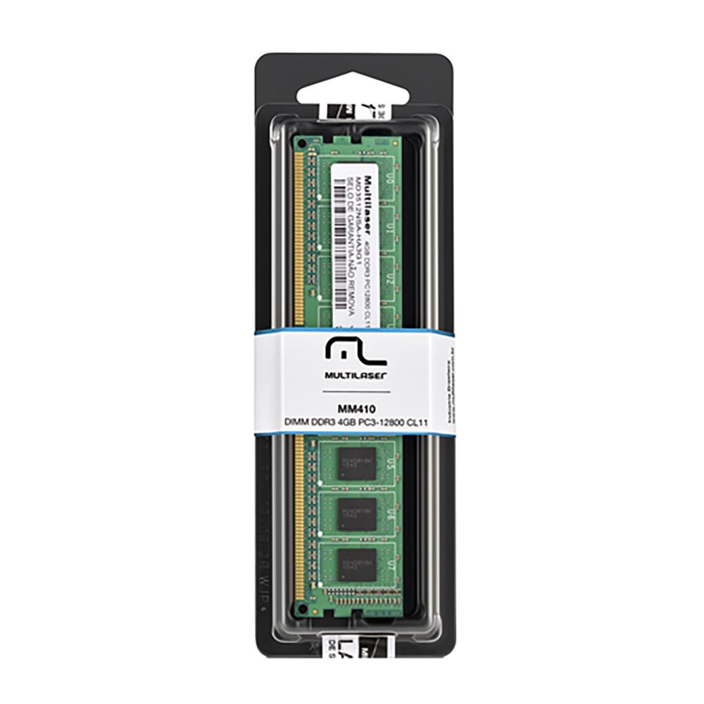Memoria Desktop Multilaser DDR3 4GB MM410