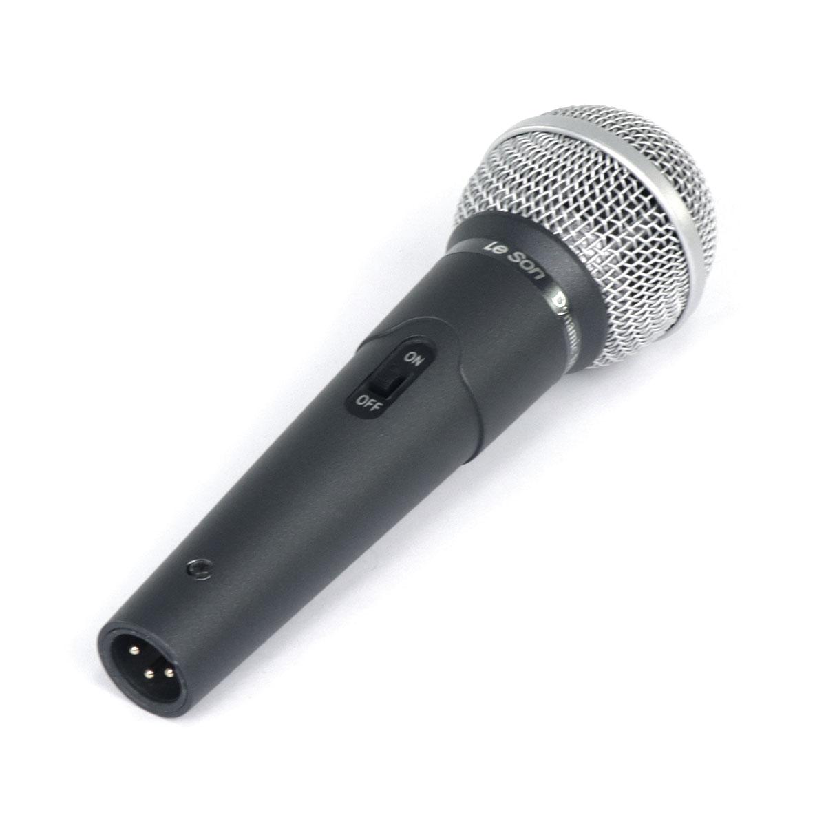 Microfone de Mao Dinamico LS58 Cinza Chumbo Leson
