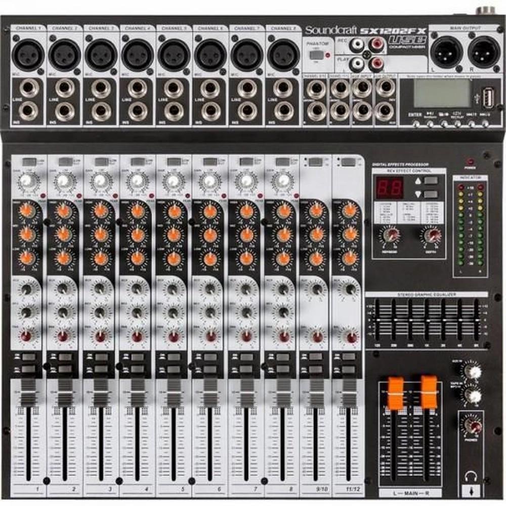 Mixer Analogico Soundcraft SX1202FX USB 12 Canais