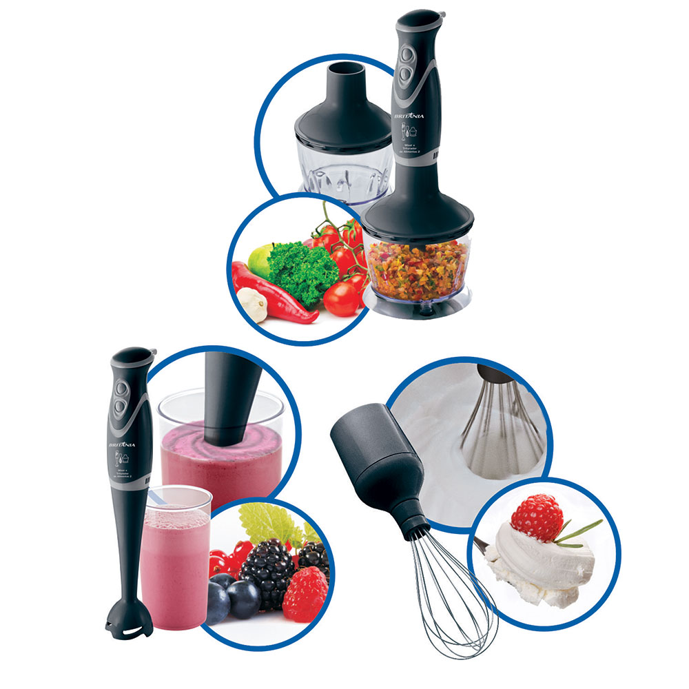 Mixer e Triturador de Alimentos 2 Britania 110 V