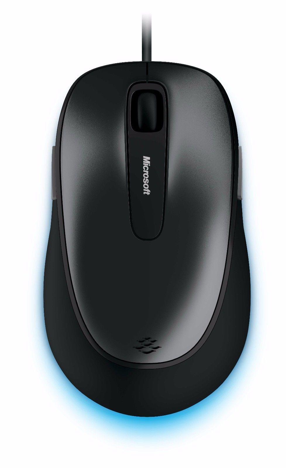 Mouse Microsoft Wired Comfort Optico 4500 Preto USB - 4FD-00025