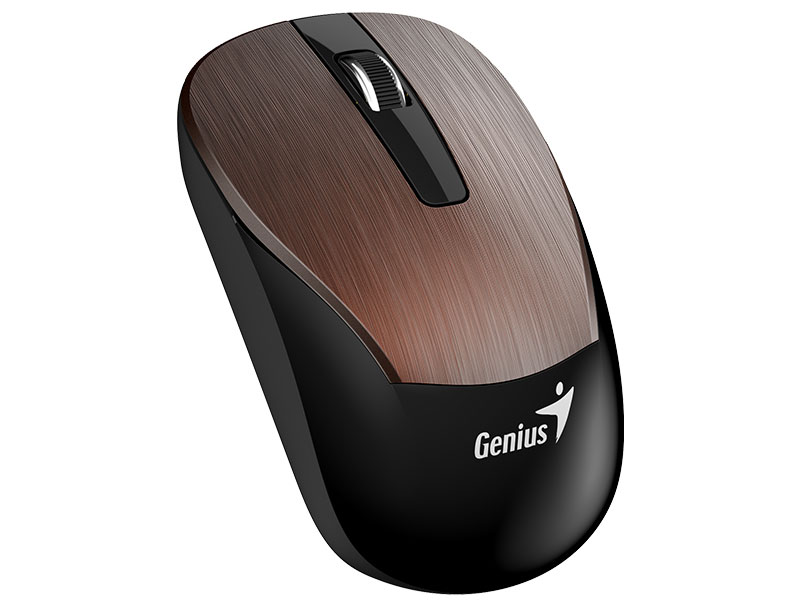 Mouse Wireless Genius 31030007403 ECO-8015 Cafe 2,4GHZ 1600DPI