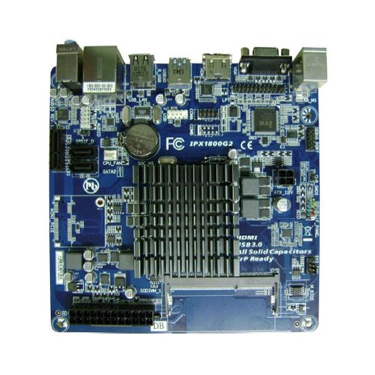 Placa Mae Pcware Mini ITX IPX1800G2 com INTEL Celeron DUAL-CORE