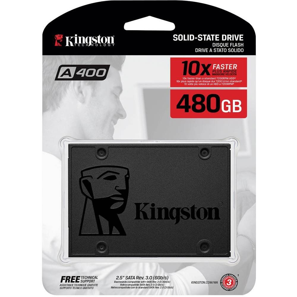 SSD Desktop Notebook Ultrabook Kingston SA400S37/480G A400 480GB 2.5 SATA III Blister