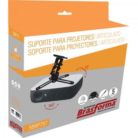 Suporte de Teto Universal Preto para Projetor SBRP757