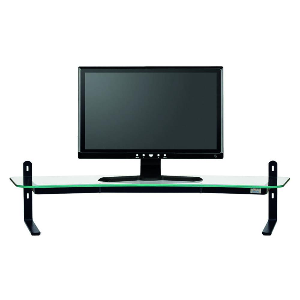 Suporte Monitor Reliza Executive LCD Duplo Vidro Incolor 80X30X6CM