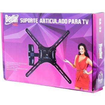 Suporte TV PLASMA/LED Articulado Bedin SAT 15 a 60 - BA 32