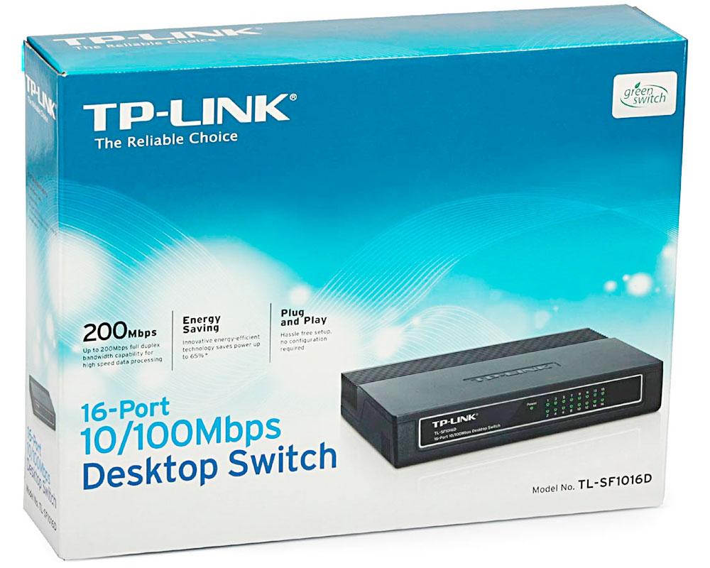 Switch TP-LINK 16 Portas TL-SF1016D 10/100MBPS - TPL0020