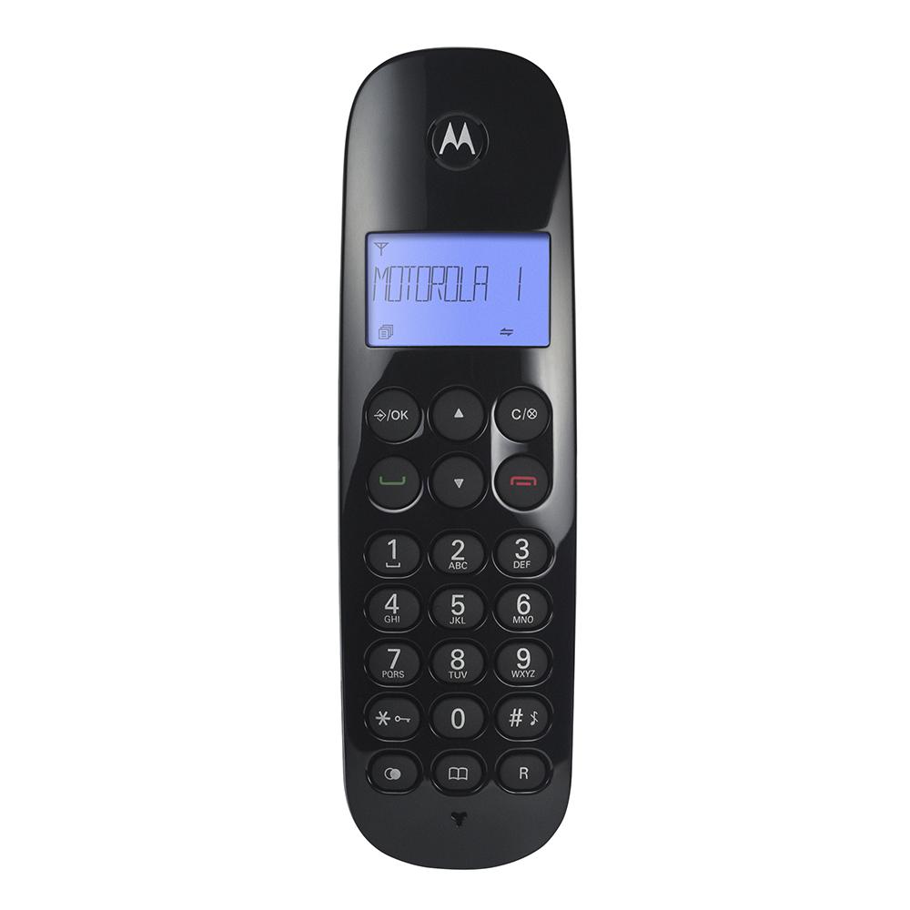 Telefone sem Fio Motorola MOTO700 com Identificador de Chamadas Digital Preto