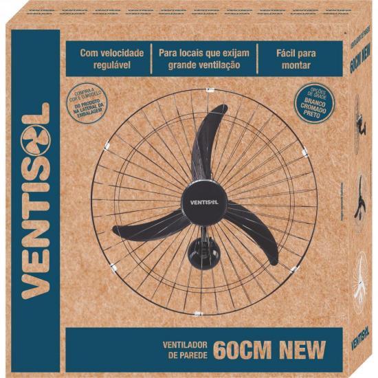Ventilador de Parede 60 CM 127V NEW Premium Preto Ventisol