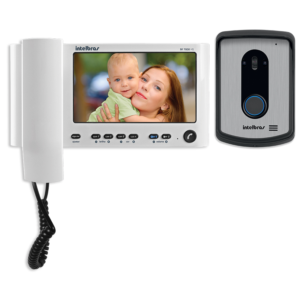 Video Porteiro Intelbras IV7010 HS LCD 7 e Handset 7 Branco