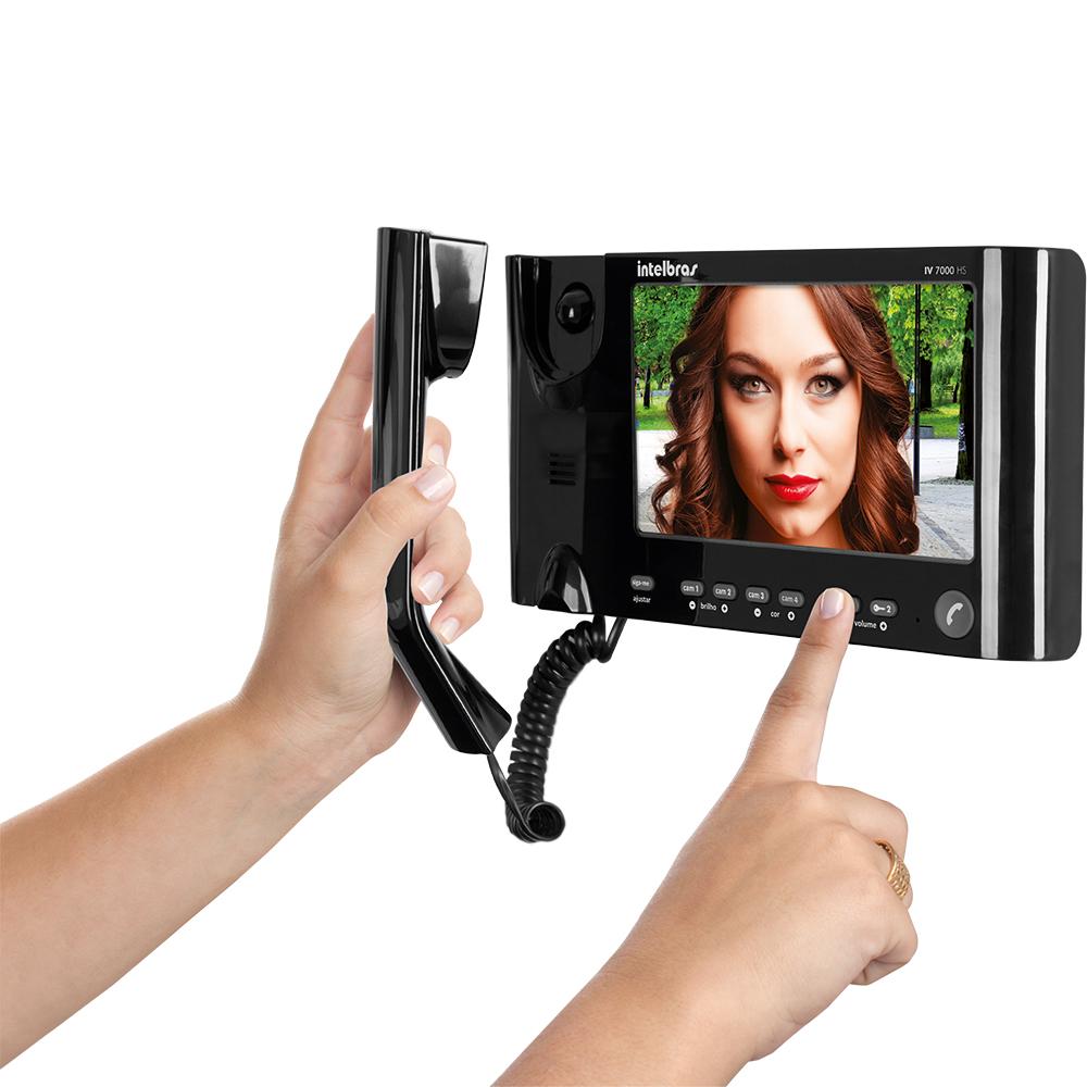 Video Porteiro Intelbras IV7010 HS LCD 7 Polegadas Preto