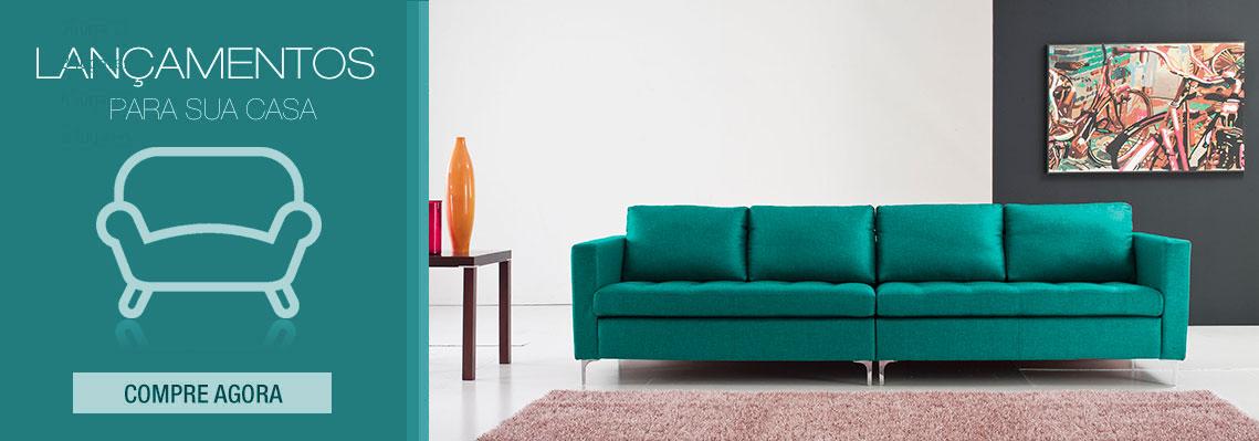 sofá 3 lugares net manhattan fixo suede azul