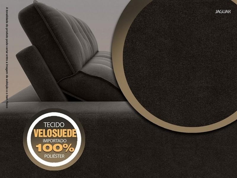 Sofá 3 Lugares Net Jaguar Assento Retrátil e Reclinável Chocolate 2,00m (L)  - NETSOFÁS