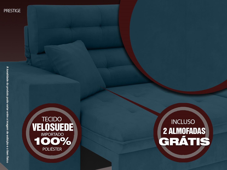 Sofá 3 Lugares Net Prestige Assento Retrátil e Reclinável Royal 2,00m (L)  - NETSOFÁS