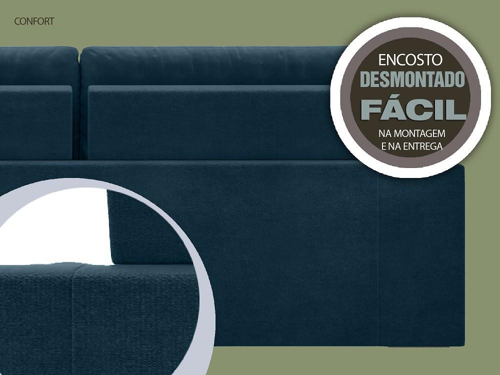 Sofá 4 Lugares Net Confort Assento Retrátil e Reclinável Royal 2,20m (L)  - NETSOFÁS