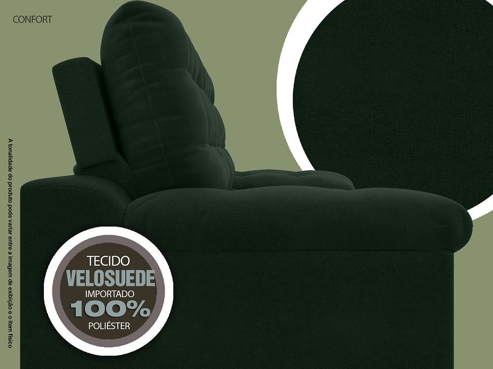 Sofá 4 Lugares Net Confort Assento Retrátil e Reclinável Verde 2,20m (L)  - NETSOFÁS