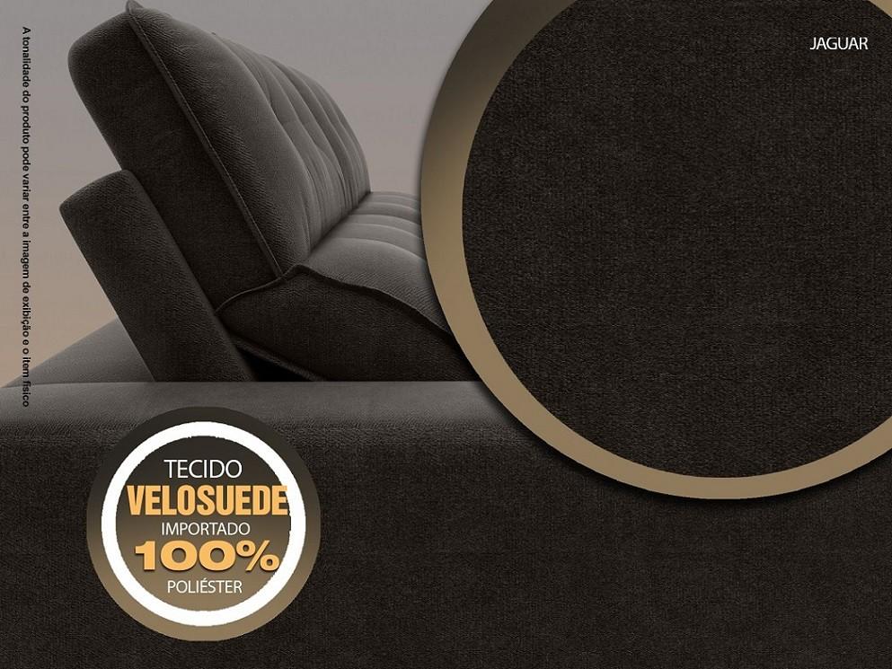 Sofá 4 Lugares Net Jaguar Assento Retrátil e Reclinável Chocolate 2,30m (L)  - NETSOFÁS