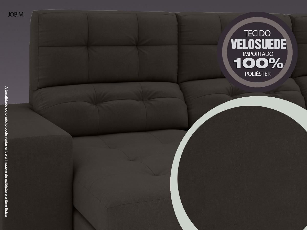 Sofá 4 Lugares Net Jobim Assento Retrátil e Reclinável Chocolate 2,30m (L)