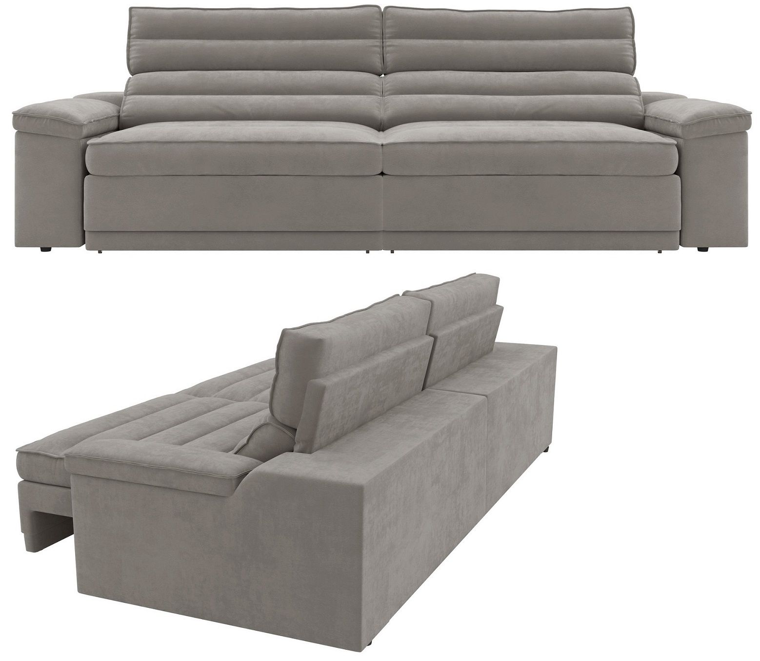 Sof 4 lugares net lincoln assento retr til e reclin vel for Sofa 4 lugares reclinavel e assento retratil