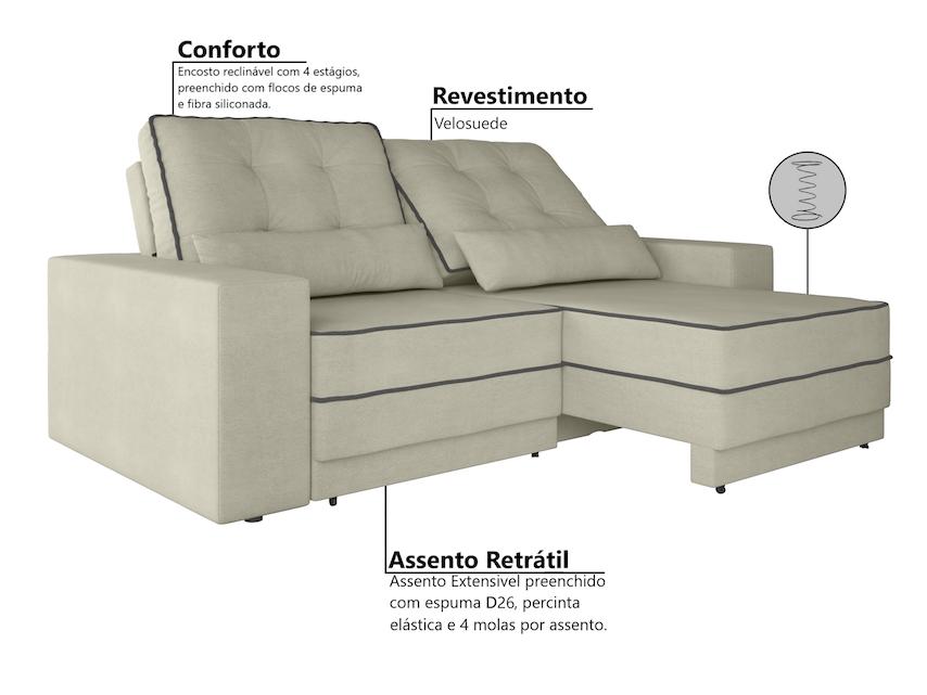 Incredible Sofa 4 Lugares Net Patagonia Retratil E Reclinavel Velosuede Pdpeps Interior Chair Design Pdpepsorg