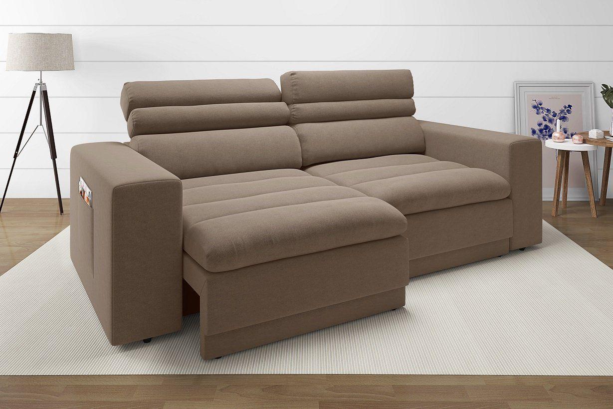 Sof 4 lugares net treviso assento retr til e reclin vel for Sofa 4 lugares reclinavel e assento retratil