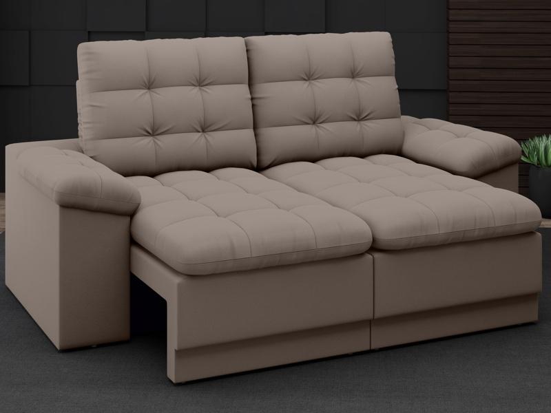 Sofá Confort  1,80m Assento Retrátil e Reclinável Velosuede - NETSOFAS