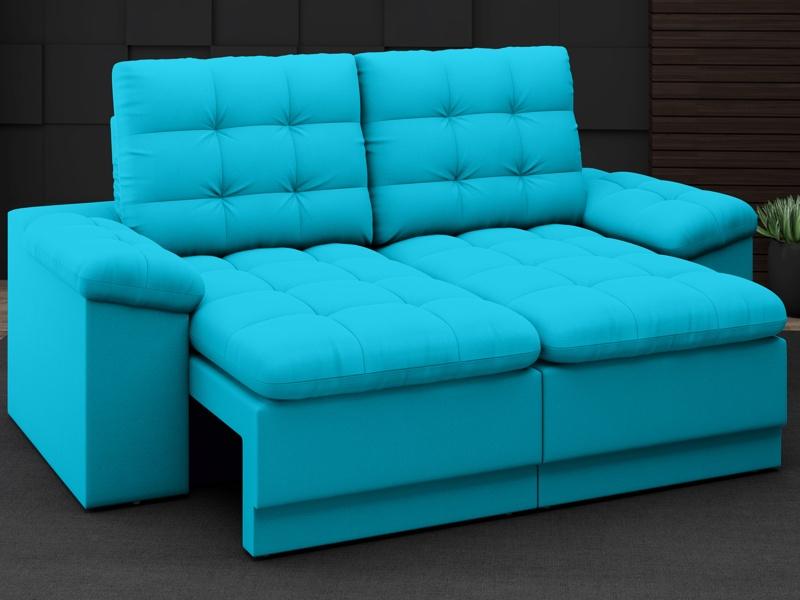 Sofá Confort  1,80m Assento Retrátil e Reclinável Velosuede - NETSOFAS  - NETSOFÁS