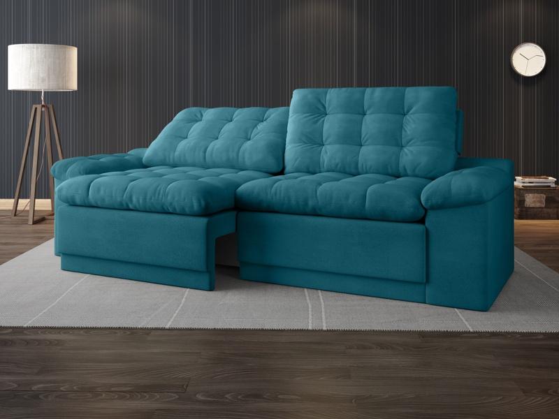 Sofá Confort  2,20m Assento Retrátil e Reclinável Velosuede - NETSOFAS  - NETSOFÁS