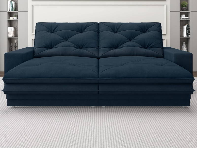 Sofá Neon 2,20m Retrátil e Reclinável Velosuede - NETSOFAS