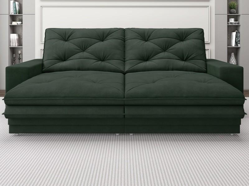 Sofá Neon 2,40m Retrátil e Reclinável Velosuede Verde - NETSOFAS