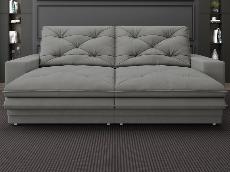 Sofá Neon 2,60m Retrátil e Reclinável Velosuede - NETSOFAS