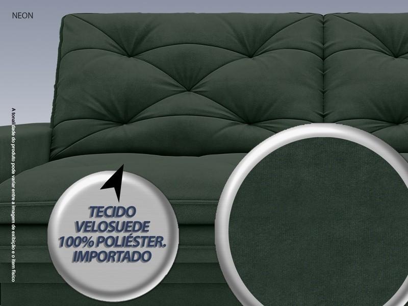 Sofá Neon 2,60m Retrátil e Reclinável Velosuede Verde - NETSOFAS  - NETSOFÁS