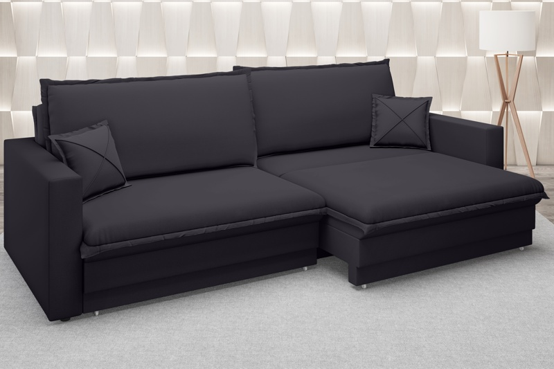 Sofá Tango 2,40m sem caixa, Retrátil e Reclinável Velosuede - NETSOFAS