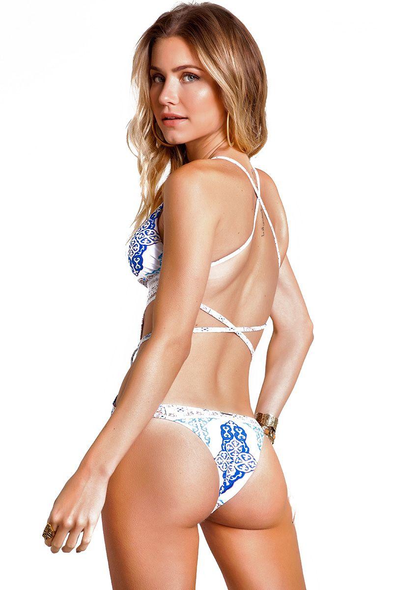 Body Majorelle Estampa Azulejo Azul