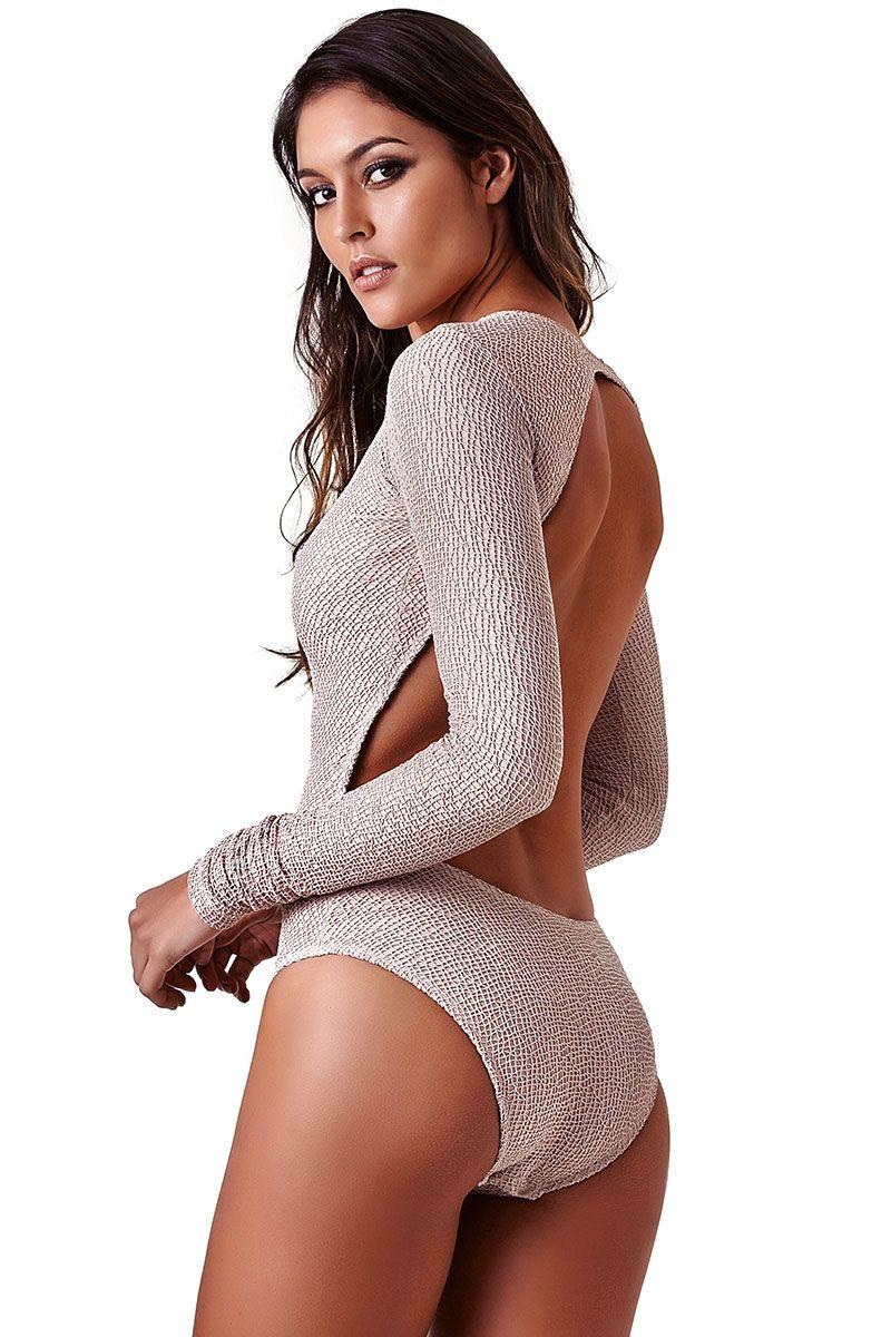 Body Sleevy Renda Nude