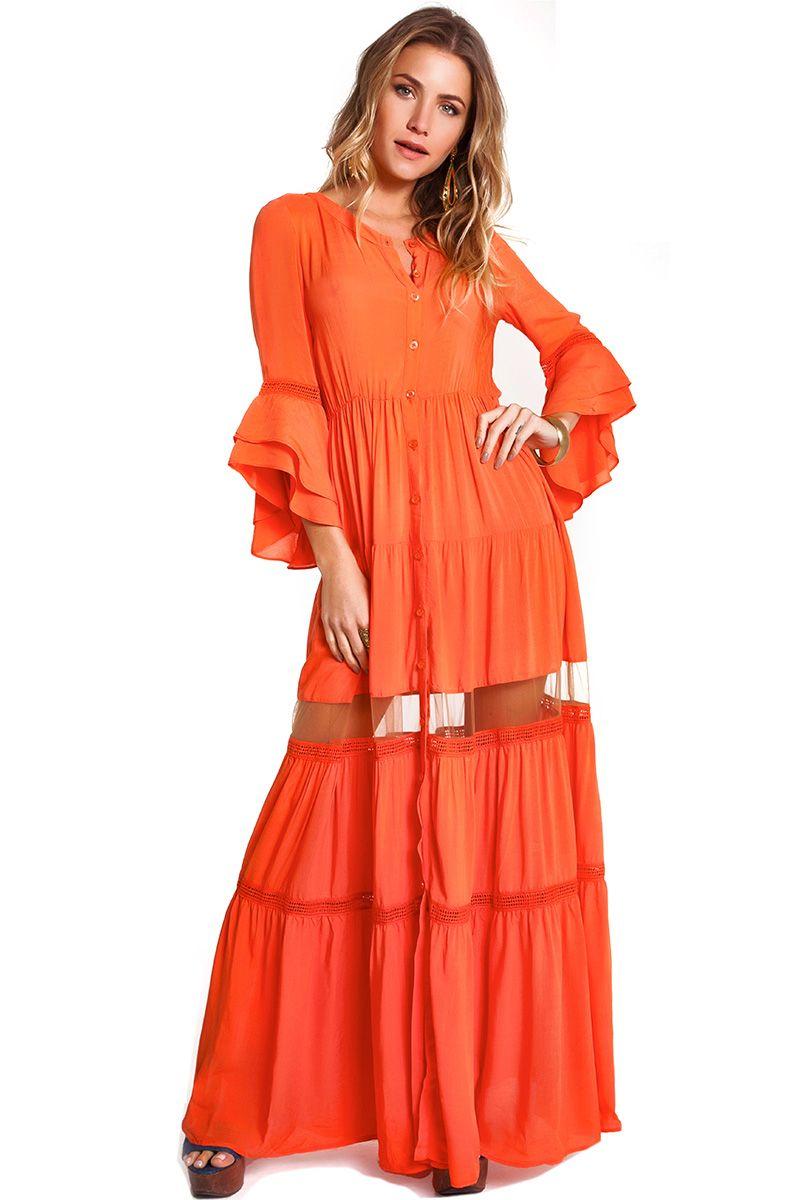 Vestido Gisele Coral