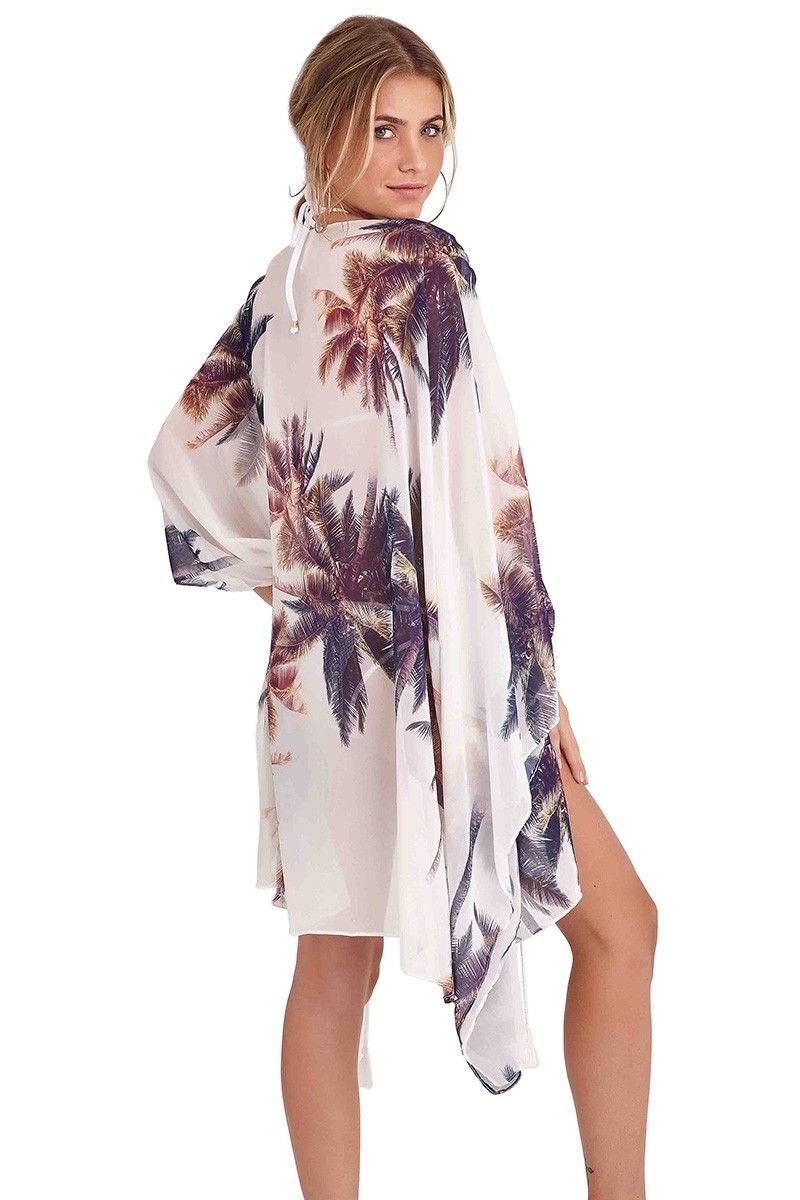 Kimono Malaga Estampa Coqueiro