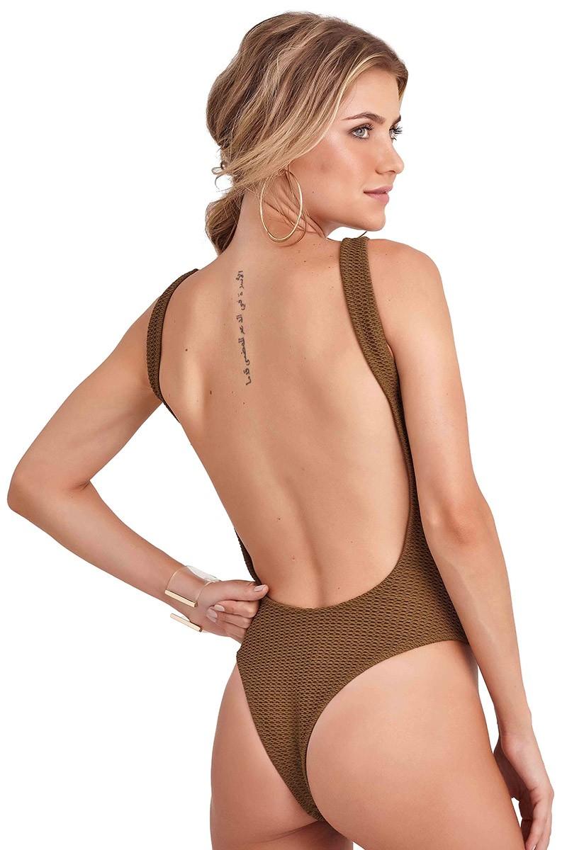 Body Heidi Textura Verde Militar