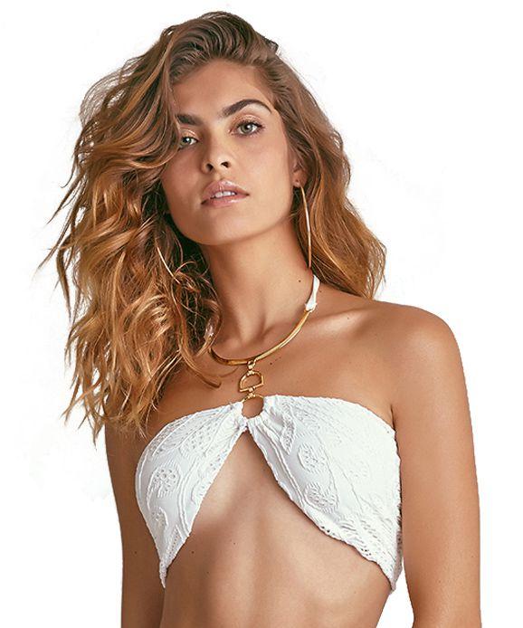 Biquini Bardot Textura Off White