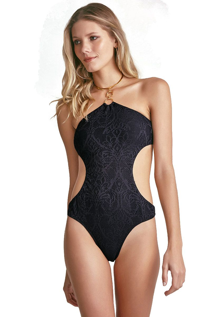 Body Bardot Renda Preto