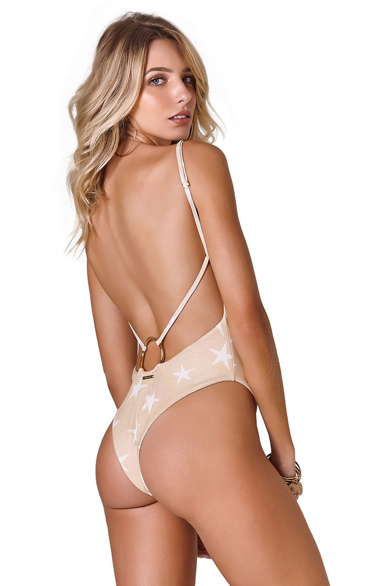 Body Gia Estampa Star Khaki