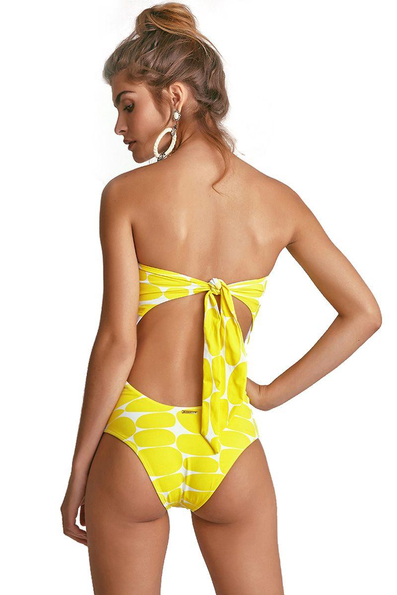 Body Kelly Estampa Leblon Amarelo