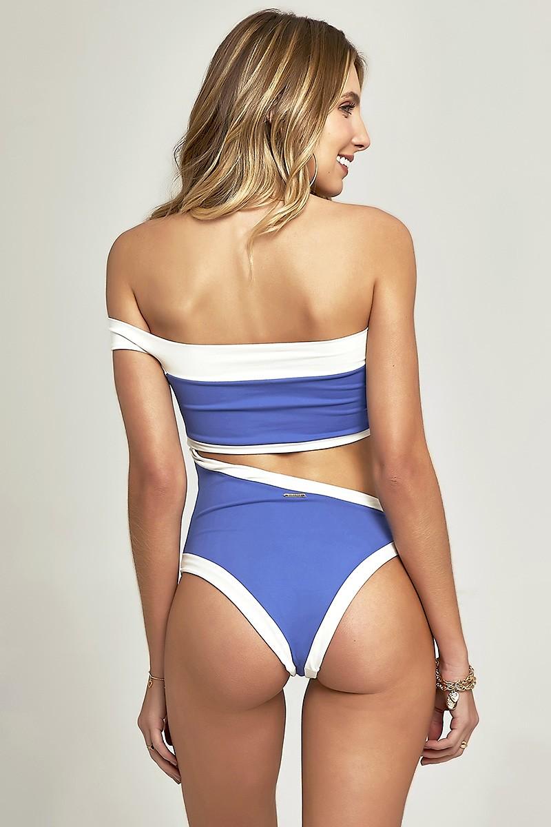 Body Off Shoulder Azul